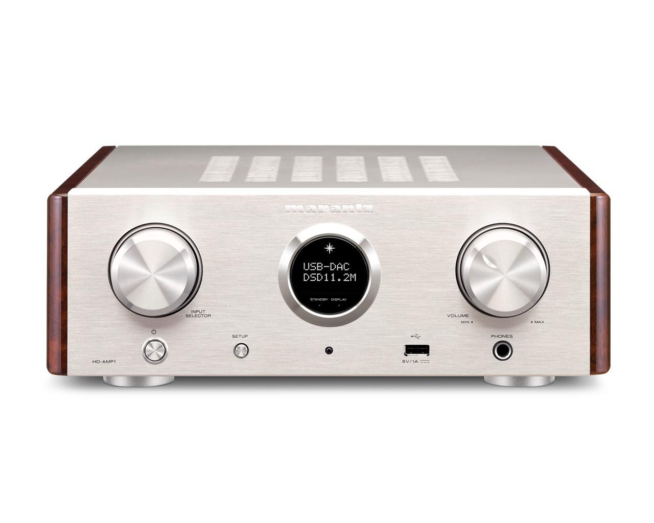 Стерео усилитель с ЦАП: Marantz HD-AMP 1 Silver Gold -