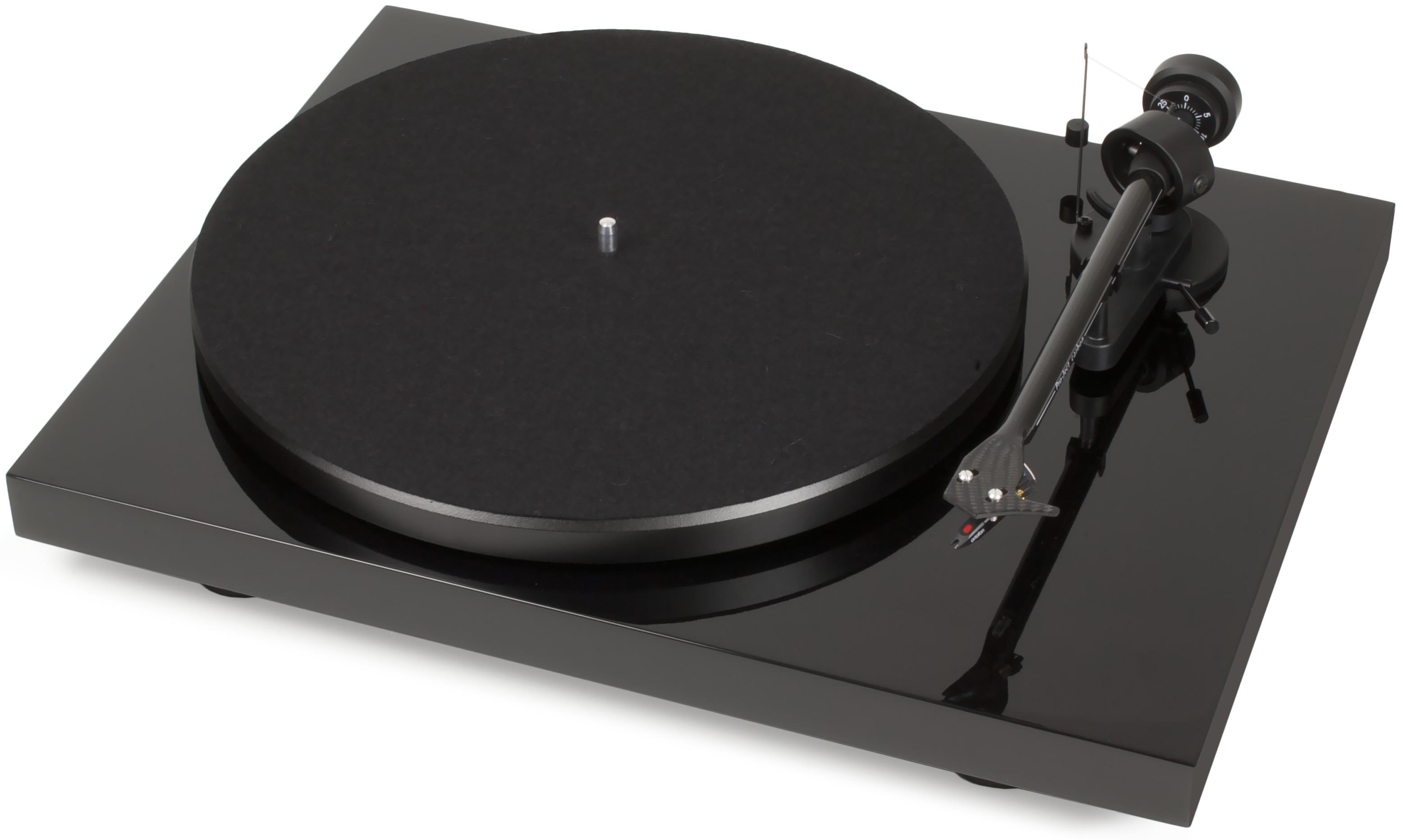 Виниловый проигрыватель  PRO-JECT DEBUT CARBON DC (2M-Red) - PIANO BLACK -