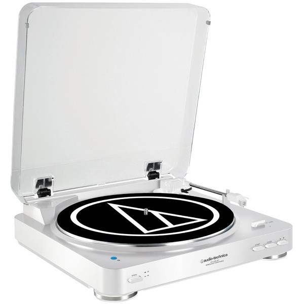 Виниловый проигрыватель Audio-Technica AT-LP60BT White -