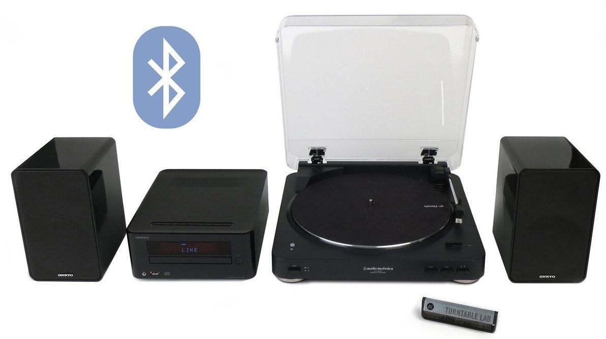 Винил Audio-technica AT-LP60-BT + Onkyo CS-265 (Black) -