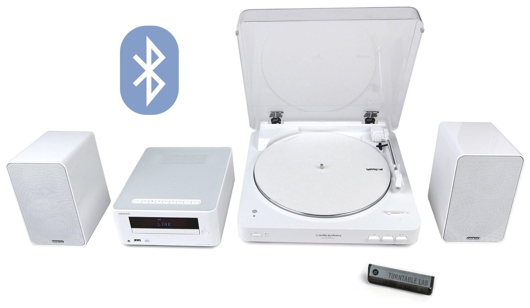 Винил Audio-technica AT-LP60-BT + Onkyo CS-265 (White) -