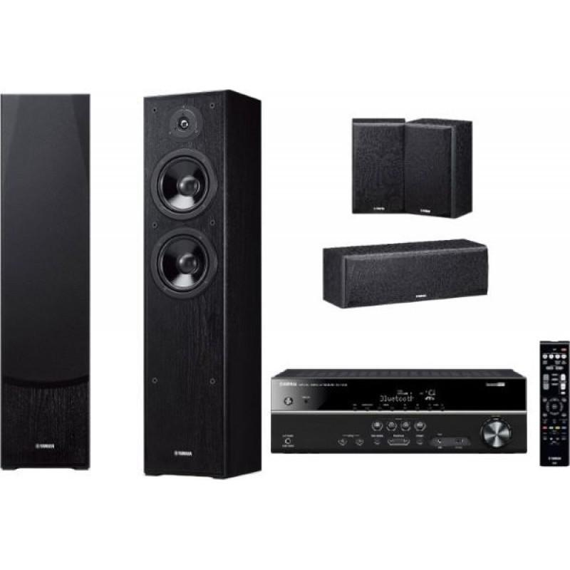 Домашний кинотеатр Yamaha Kino SYSTEM 385 (RX-V385+ NS-F51 + NS-P51) Black -