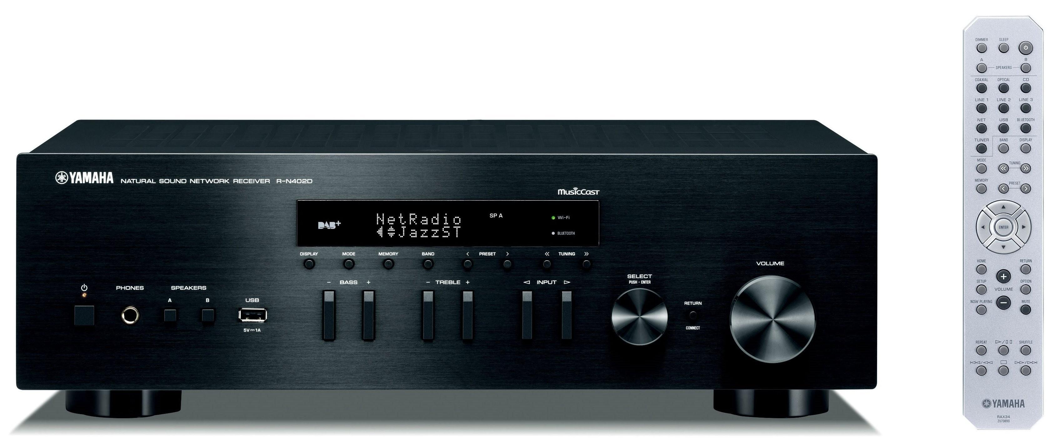 Сетевой HiFi-ресивер Yamaha R-N402D Black -