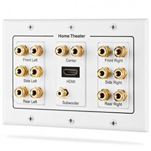 Розетка акустическая 7.1 Surround Distribution Home Theater 3-Gang