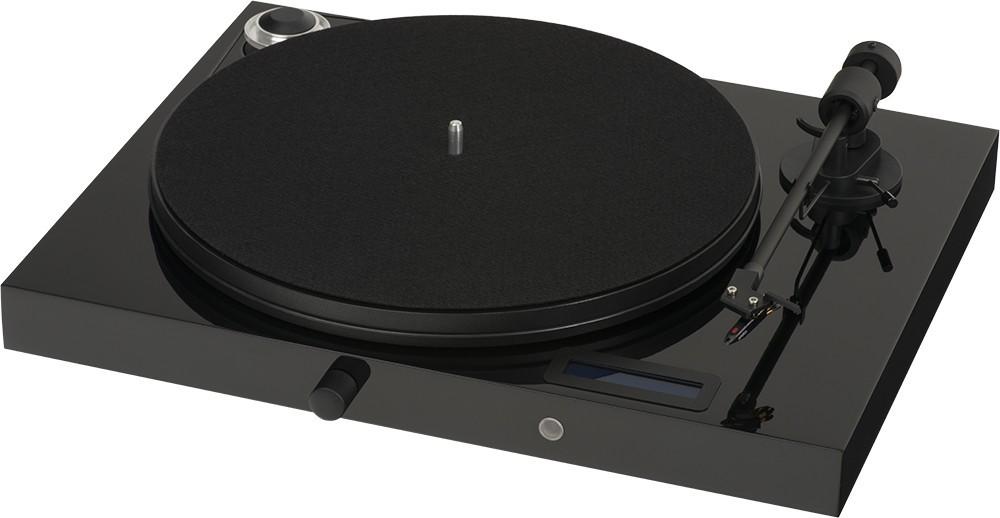 Виниловый проигрыватель Pro-Ject Juke Box E (OM 5E) -  Piano Black -