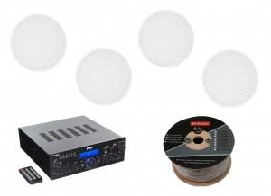 Стереоресивер Pyle PDA6BU + Monitor Audio Pro 80 (4 шт.)