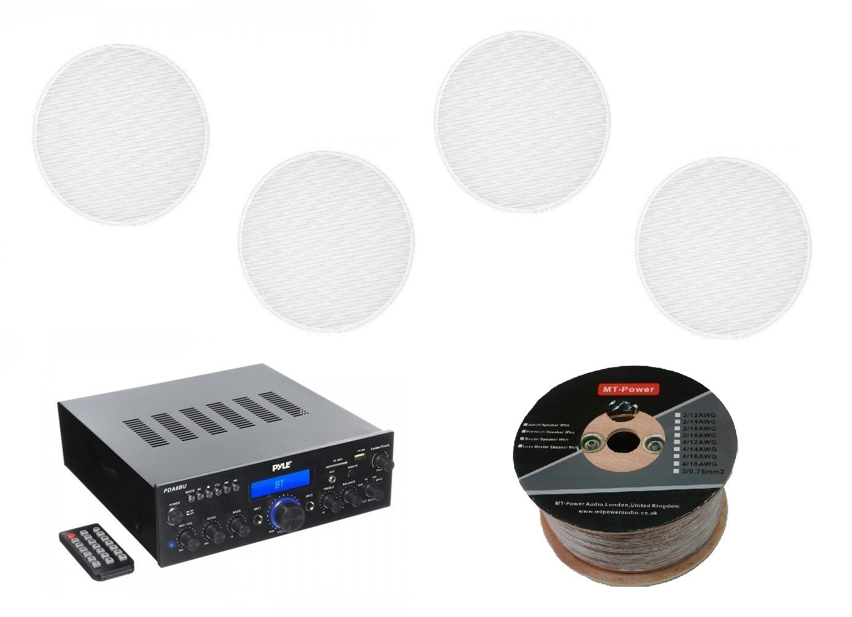 Стереоресивер Pyle PDA6BU + Monitor Audio Pro 80 (4 шт.) -