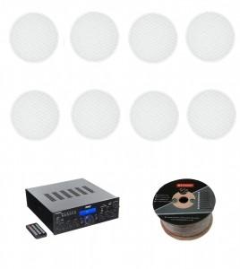Стереоресивер Pyle PDA6BU + Monitor Audio Pro 80 (8 шт.)