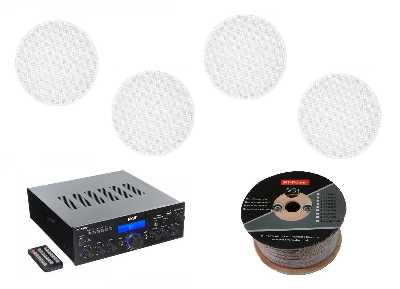 Стереоресивер Pyle PDA6BU + Monitor Audio Pro 65 (4 шт.) -