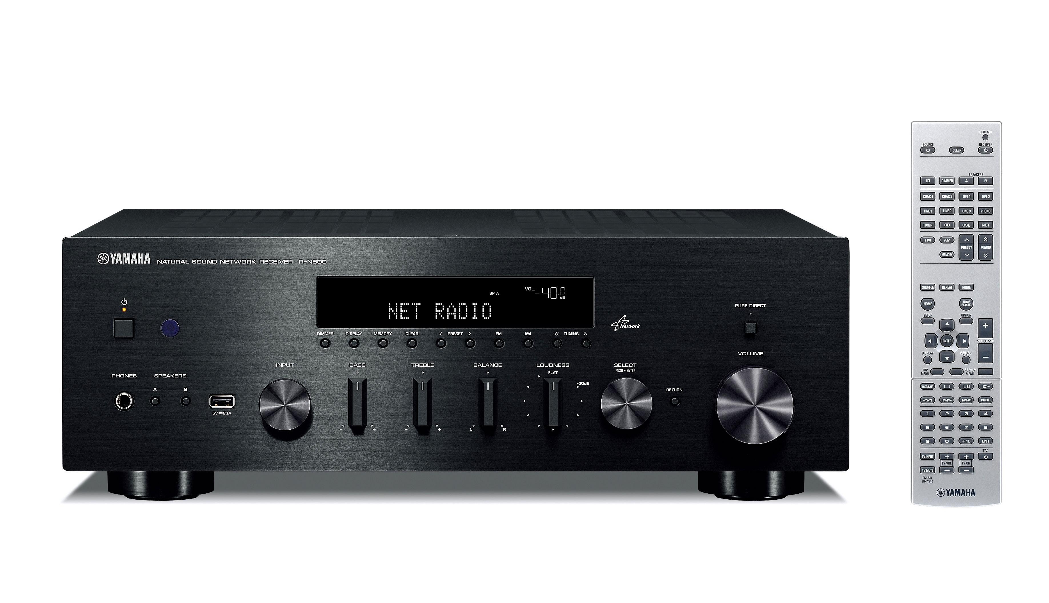 Стереоресивер Yamaha R-N500 Black -