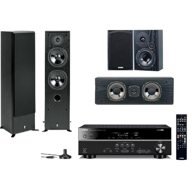 Домашний кинотеатр Yamaha Movie SET AV(RX-V377 + NS-50F + NS-P60) Black -