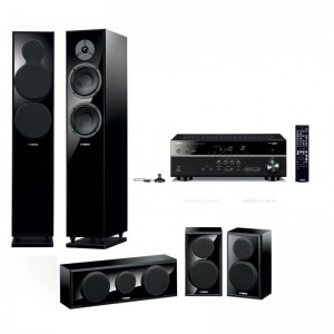 Домашний кинотеатр Yamaha Movie SET AV2(RX-V483 + NS-F150 + NS-P150) Piano Black